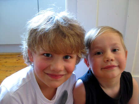 Grandsons Sebastian and Toby, January 2011: