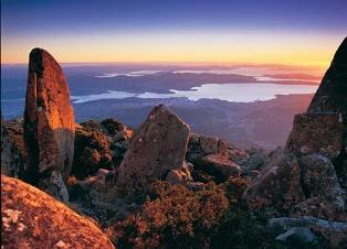 Hobart from Mt Wellington: