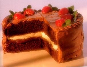 Kurma's black forest sponge cake: