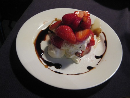 Labneh with Strawberries, Honey and Balsamic Reduction:
