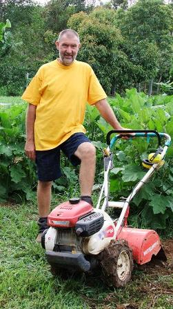 Mower with Trev: