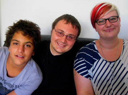 My kids - Nitai Caitanya and Joelene: