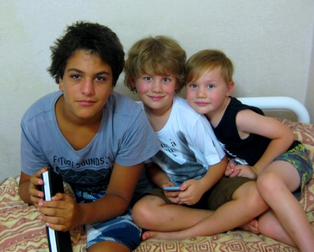 My son Nitai and my grandsons Sebastian and Toby, Jan 2011: