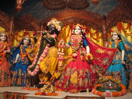 Radha Madhava and some of the Eight Gopis: