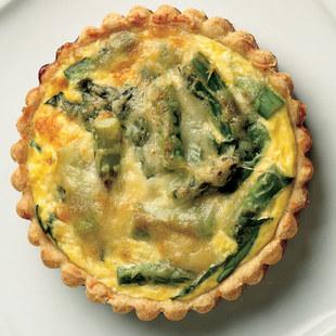 asparagus quiche: