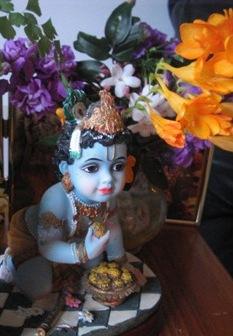 baby Krishna is waiting: