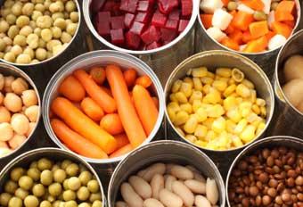 canned veg: