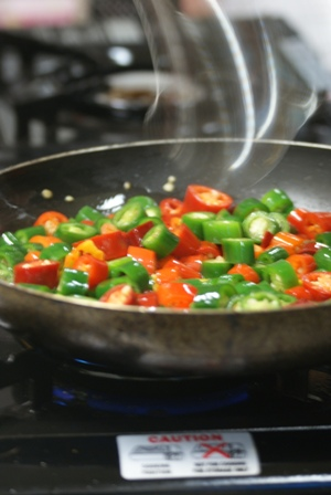 caution - hot chilies:
