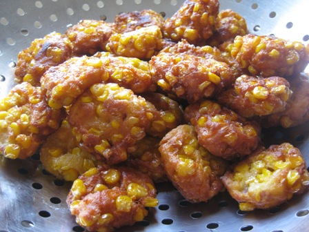 corn fritters: 