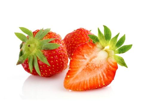 fresh ripe strawberries: