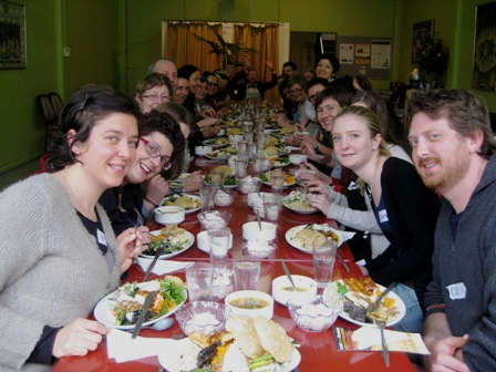 longest vegetarian dinner table: