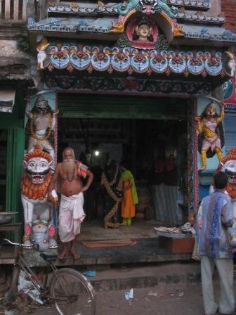 puri shop and shopkeeper: