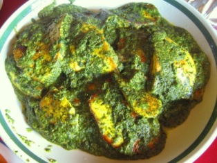 some Hearty Country-style Palak Panir: